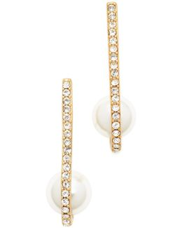 Shine On Imitation Pearl Cuff Earrings