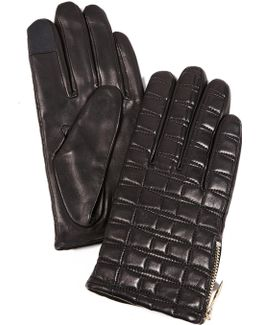 Bow Quilted Tech Gloves