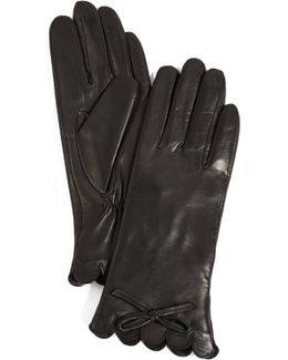 Scallop Leather Gloves