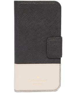 Leather Wrap Folio Iphone 7 Case