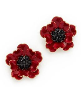 Precious Poppies Stud Earrings