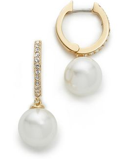 Precious Imitation Pearl Drop Earrings