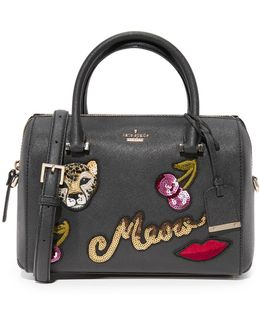 Ma Cherie Embellished Large Lane Satchel
