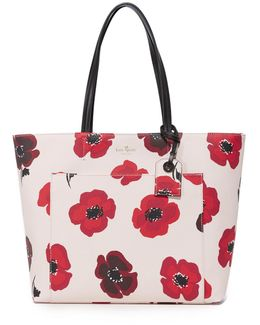 Hyde Lane Poppies Riley Tote