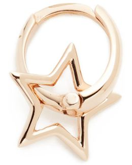 Sheriff Star Hoop Single Earring