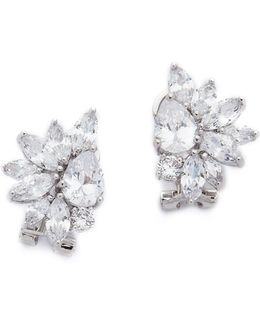 Marquis Cluster Pear Cz Earrings