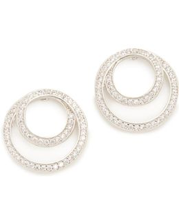 Coiled Infinity Pave Earrings