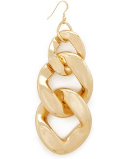 Single Large Link Fishhook Earring