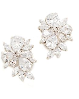 Pear & Marquis Cluster Stud Earrings