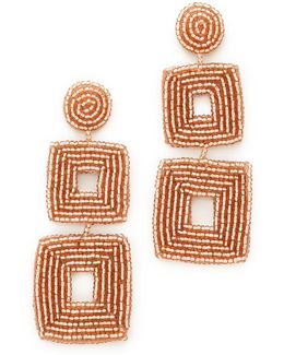 Champagne Square Earrings