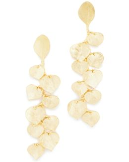 Satin Gold Leaf Earrings