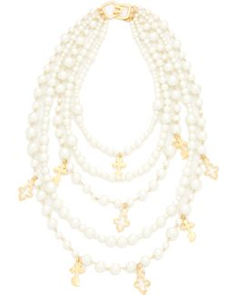 Imitation Pearl With Charms Necklace
