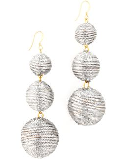3 Tier Ball Drop Earring