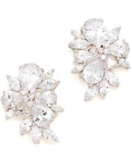 Pear & Marquise Cluster Stud