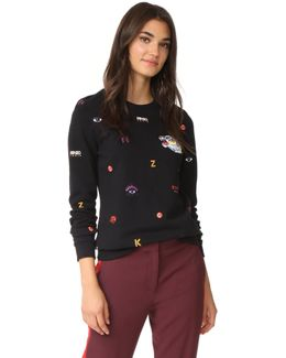 Allover Multi Icons Classic Sweatshirt