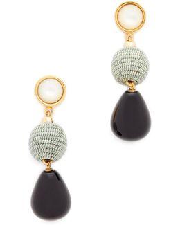 Moss & Agate Drop Earrings