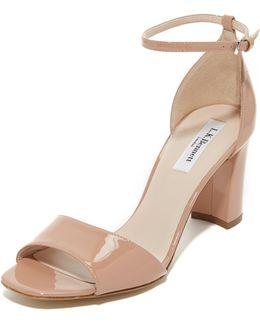 'helena' Ankle Strap Block Heel Sandal