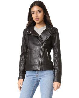 Lisa Pebbled Leather Jacket