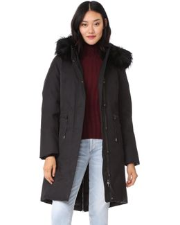 Enia Down Jacket With Fur Hood