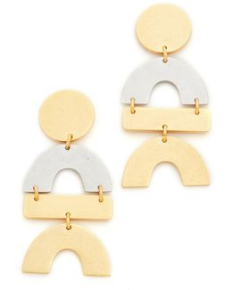 Mixed Statement Earrings