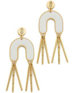 Enamel Fringe Earrings