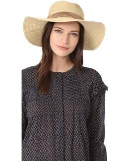 Stitched Packable Straw Hat