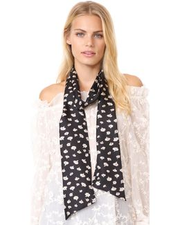 Seattle Floral Skinny Mensy Scarf