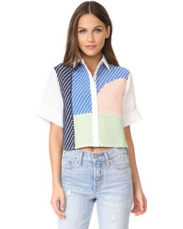 Weave Button Up Shirt