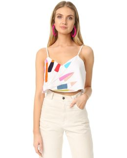 Embroidered Crop Cami