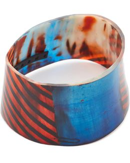Painted Bracelet In Horn
