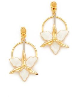 Two-sided Flower Earrings