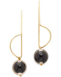 Earrings With Sphere