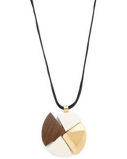 Wood Pendant Necklace