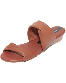 Clover Demi Wedge Slides