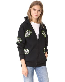 Hooded Sweatshirt With Game Controls