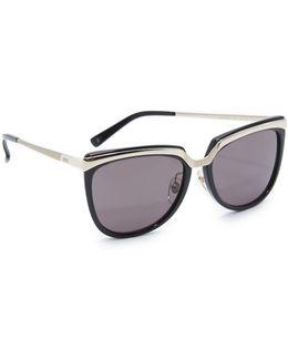 Metal Brow Sunglasses