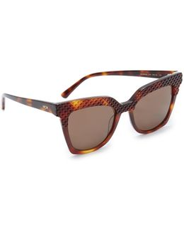 Crystal Square Sunglasses