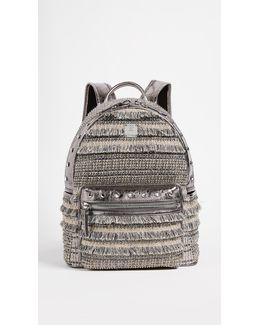Crystal Tweed Backpack