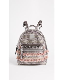 Crystal Tweed Mini Backpack