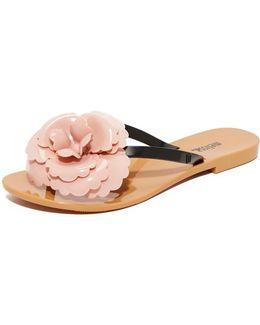 Harmonic Flower Thong Sandals