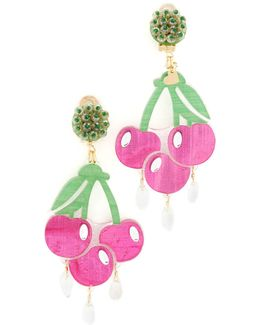 Fiesta Cereza Clip On Earrings