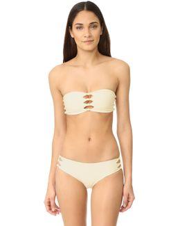 Monaco Cutout Knot Detail Bandeau Bikini Top
