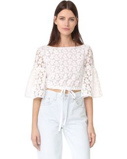 Floral Embroidery Lydia Top
