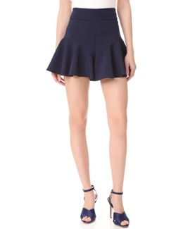 Italian Cady Flutter Culotte Shorts