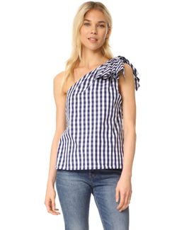Gingham Shirting Cindy Top
