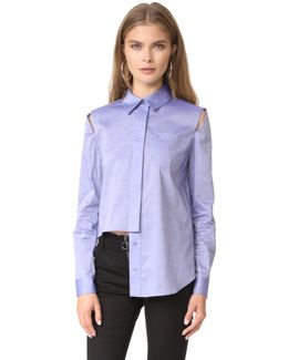 Italian Cross Dye Shirting Cassie Top