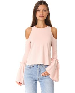 Cold Shoulder Tie Top
