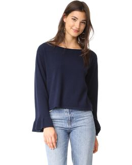 Cashmere Flare Sleeve Sweater