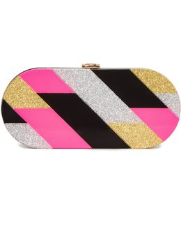 Pink Geo Oval Clutch