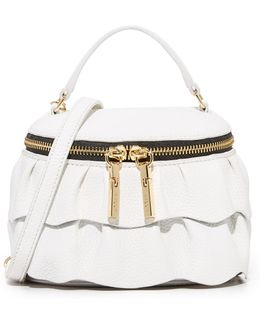 Astor Ruffle Small Top Zip Cross Body Bag